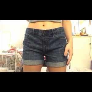 Dark wash Gap jean shorts